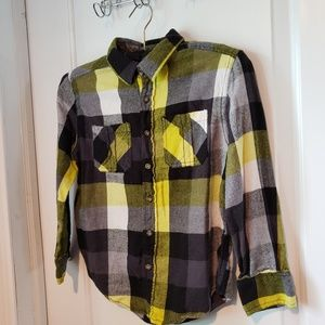 Ruff Hewn Plaid Button Up Collared Shirt - Boys 8
